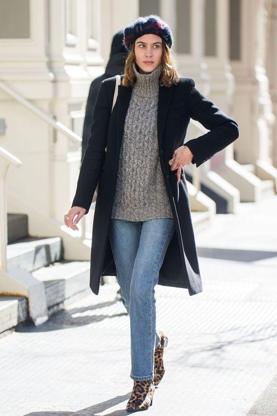 Outfits con boina francesa Tendencia otono - invierno 2017 (6)