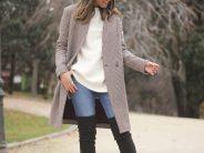 Outfits de jeans con botas largas otoño – invierno 2017