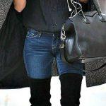 Outfits de jeans con botas largas otoño - invierno 2017 (11)