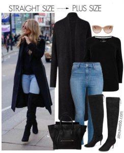 Outfits de jeans con botas largas otoño - invierno 2017 (15)