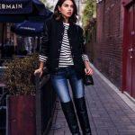 Outfits de jeans con botas largas otoño - invierno 2017 (20)