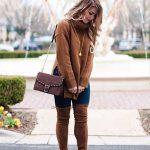 Outfits de jeans con botas largas otoño - invierno 2017 (23)