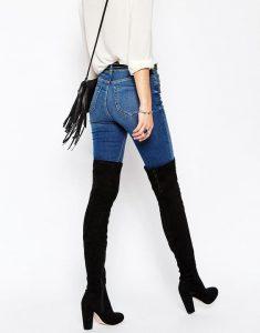 Outfits de jeans con botas largas otoño - invierno 2017 (3)