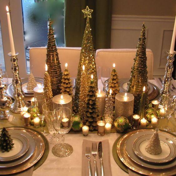Centros de mesa navide os elegantes y con estilo - Adornos navidenos elegantes ...