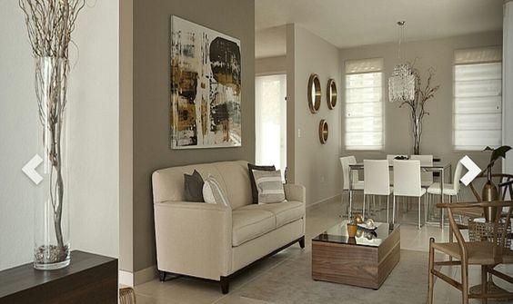 Tendencia en decoraci n de sala y comedor juntos 2018 for Decoracion de interiores 2018 salas