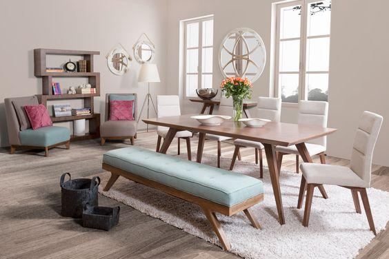 Tendencia en decoraci n de sala y comedor juntos 2018 for Comedores modernos con banca