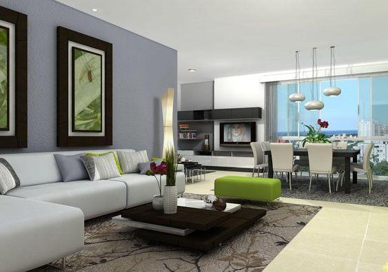tendencia en decoraci n de sala y comedor juntos 2019 On sala de estar estancia cocina moderna