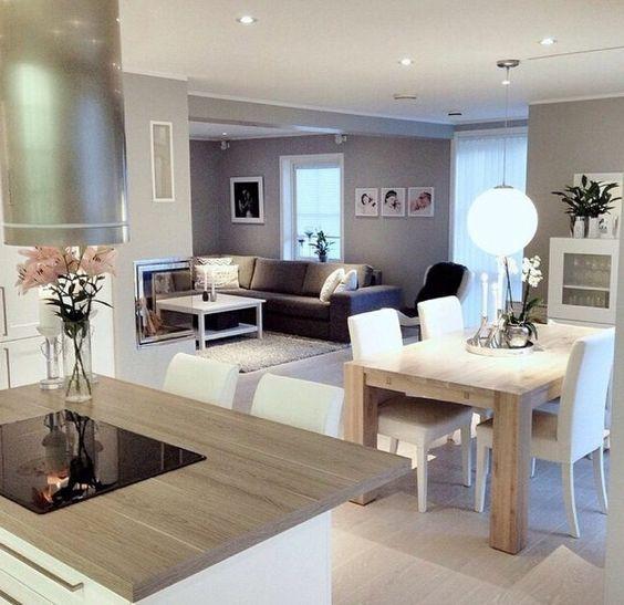 Tendencia en decoraci n de sala y comedor juntos 2018 for Plan de la sala de 40m2