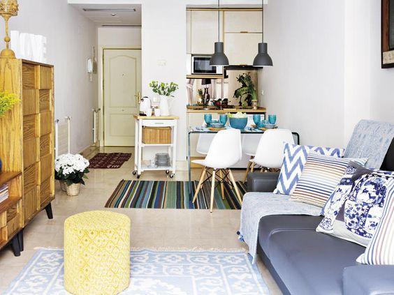Tendencia en decoraci n de sala y comedor juntos 2018 2019 for Decoracion de interiores espacios pequenos sala comedor