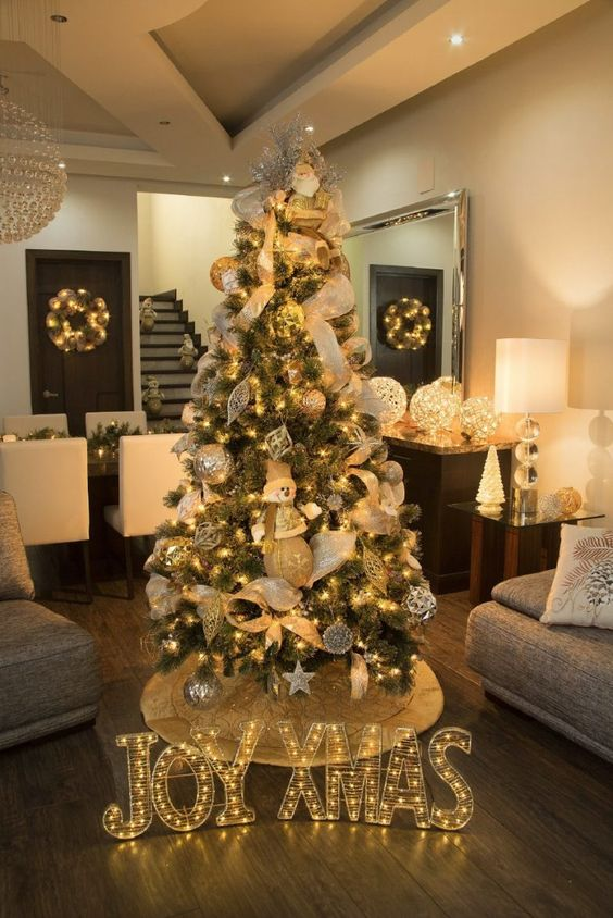40 ideas para decorar el arbol de navidad 13 - Ideas para decorar interiores ...