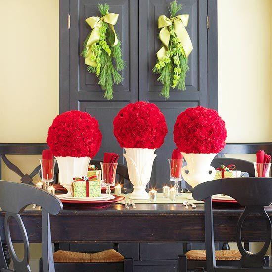 60 centros de mesa para navidad 61 Decoracion de interiores