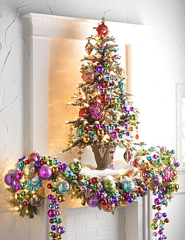 Fotos de Adornos navideños coloridos