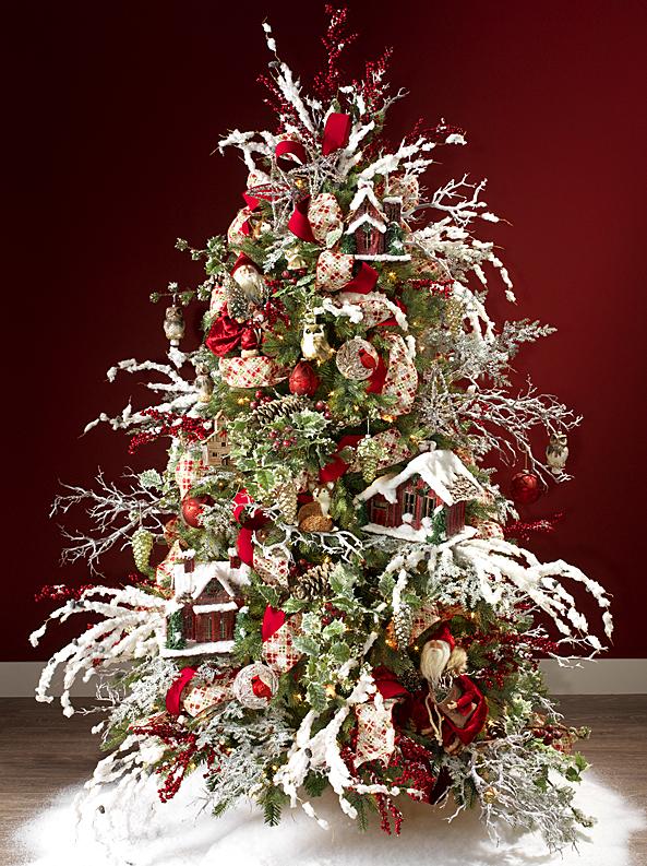 Fotos de arboles de navidad nevados