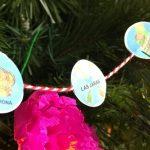 Árbol de Navidad con Lotería Mexicana (3)