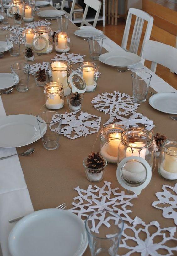 Centros de mesa navide os blancos decoracion de for Centros de mesa para casa