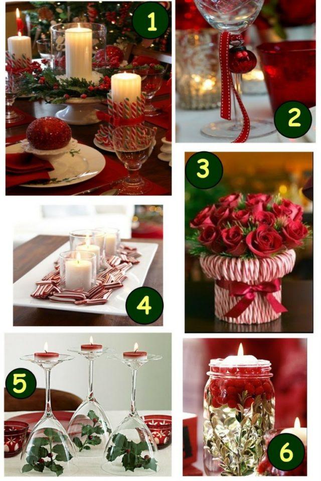 De 60 fotos e ideas para inspirarte y crear centros de mesa para navidad decoracion de - Centros navidenos originales ...