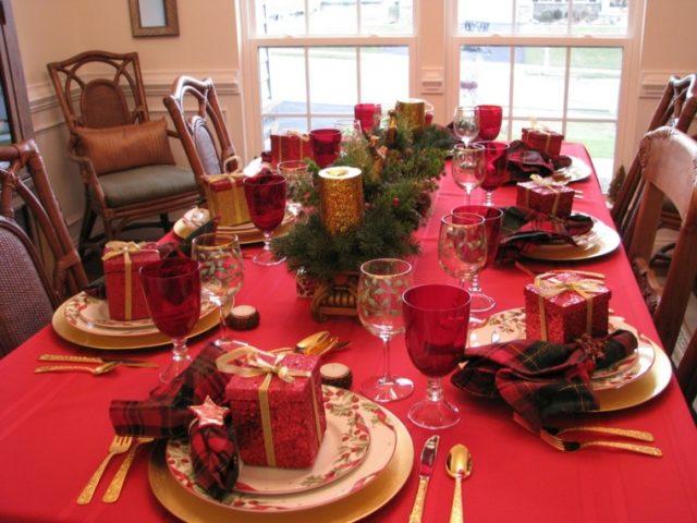 Centro de Mesa para Navidad color Rojo