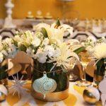 Centro de Mesa para Navidad con Flores (2)