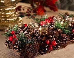 Centros de Mesa para Navidad con Pinas navidenas (2)