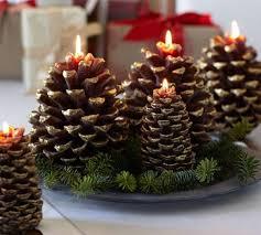 Centros de Mesa para Navidad con Piñas navideñas
