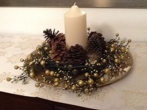 Centros de mesa para navidad con piñas