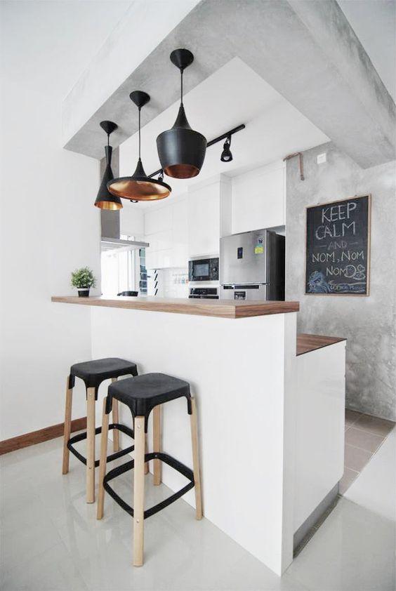 Como decorar la barra desayunadora de la cocina (1)