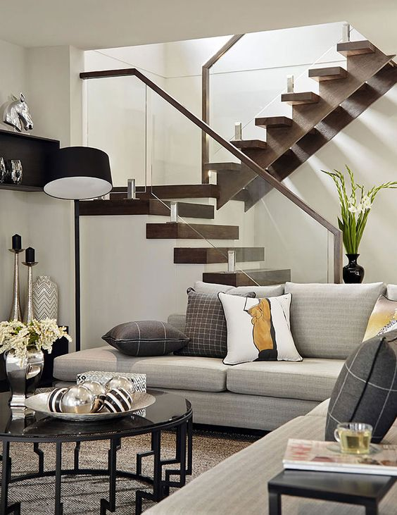 Como decorar una sala pequena y moderna (2)