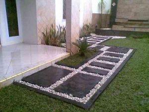 Como hacer un jardin pequeno con piedras (3)