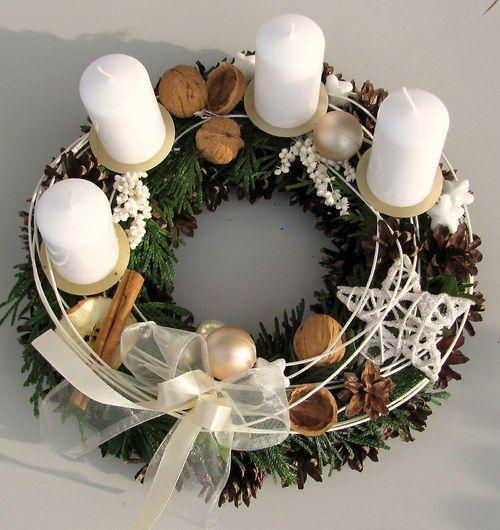 Coronas de adviento 1 decoracion de interiores - Como decorar la corona de adviento ...