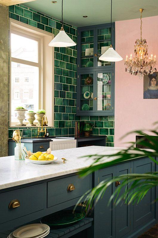 Decoracion de cocinas color verde (2)