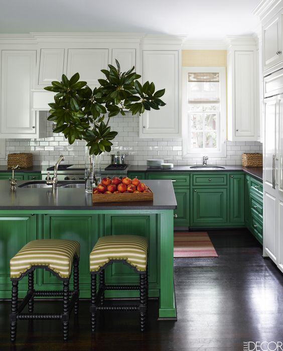 Decoracion de cocinas color verde (3)
