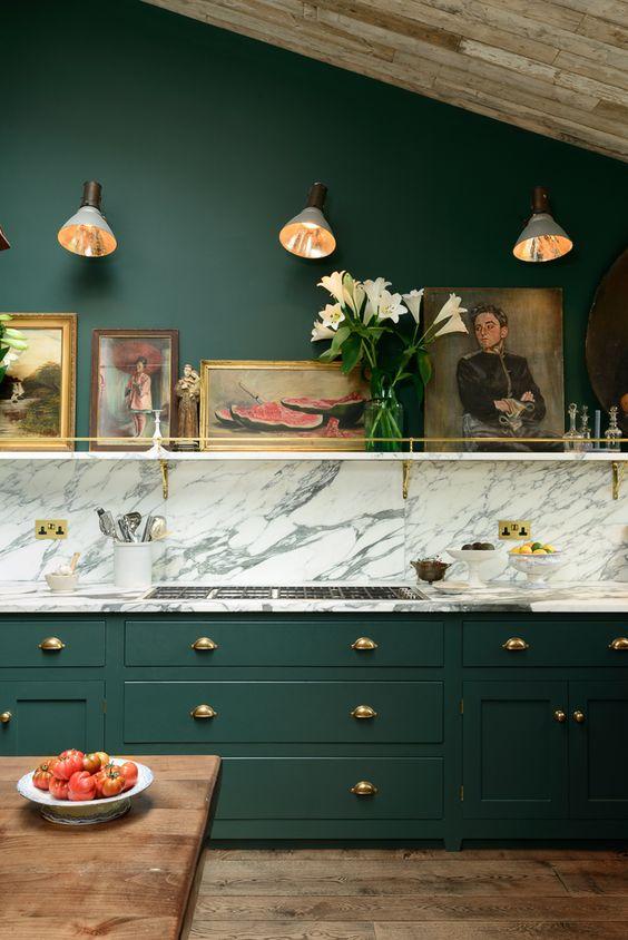 Decoracion de cocinas color verde (4)
