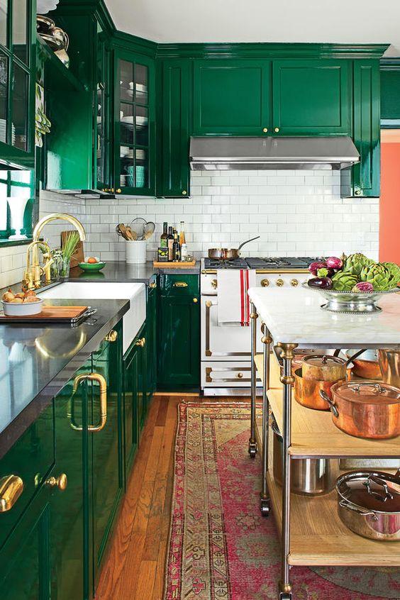 Decoracion de cocinas color verde (5)