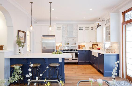 Decoracion de cocinas en color azul (4)