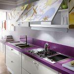Decoracion de cocinas en color morado (1)