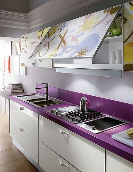 Decoracion de cocinas en color morado (1)