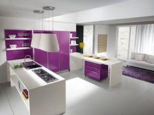 Decoracion de cocinas en color morado (2)
