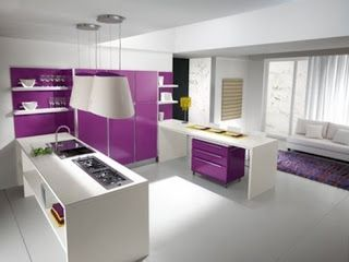 Decoracion de cocinas en color morado (2)