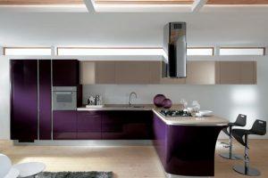 Decoracion de cocinas en color morado (3)