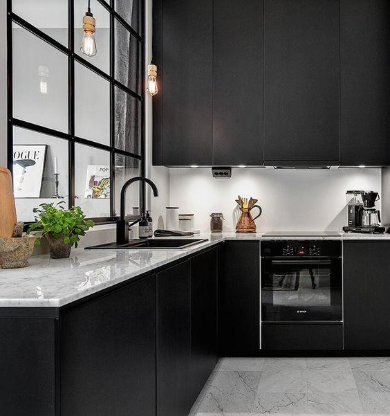 Decoracion de cocinas en color negro (5)