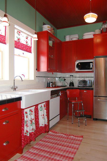 Decoracion de cocinas en color rojo (2)