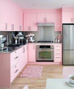 Decoracion de cocinas en color rosa (1)