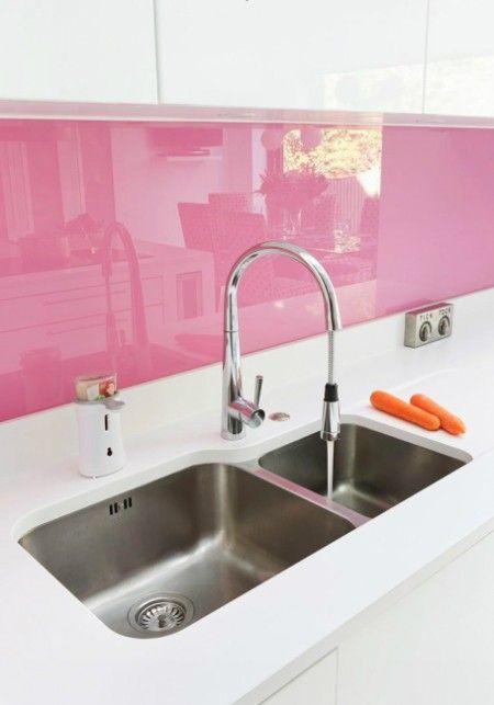 Decoracion de cocinas en color rosa (3)