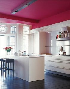 Decoracion de cocinas en color rosa (5)