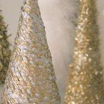 Decoracion de navidad plata con dorado (13)