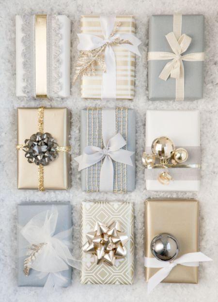 Decoración para navidad en dorado y plata