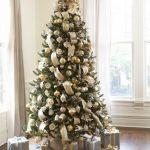 Decoracion de navidad plata con dorado (15)
