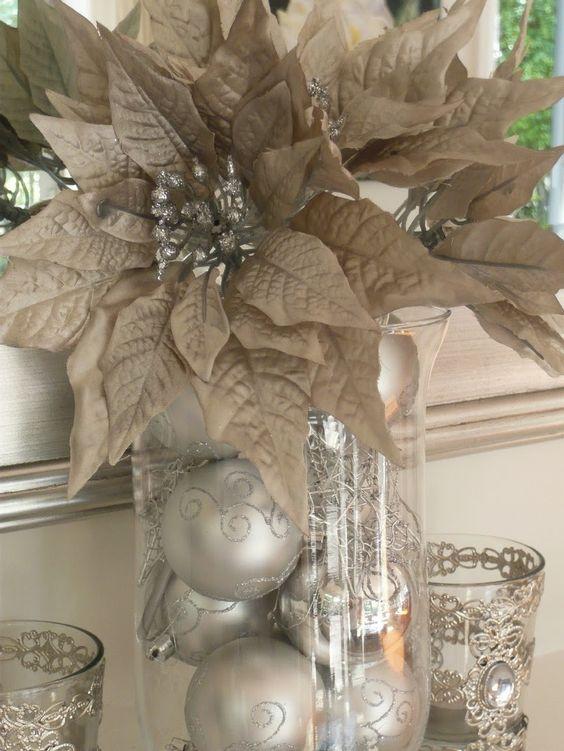 Decoracion de navidad plata con dorado (16)