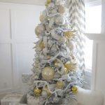 Decoracion de navidad plata con dorado (19)