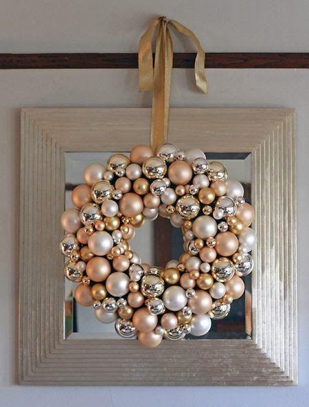 Decoracion de navidad plata con dorado (2)